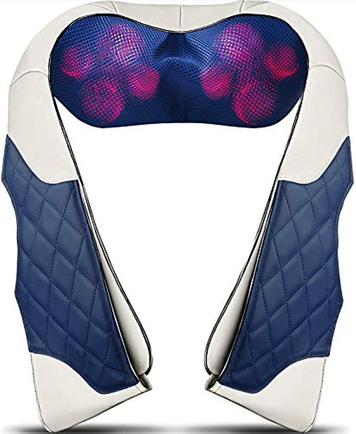 デンマーク熟読いじめっ子Back Massager with Heat - Shiatsu Neck and Back Massager - Electric Back Massage Pillow with Deep Tissue Kneading...