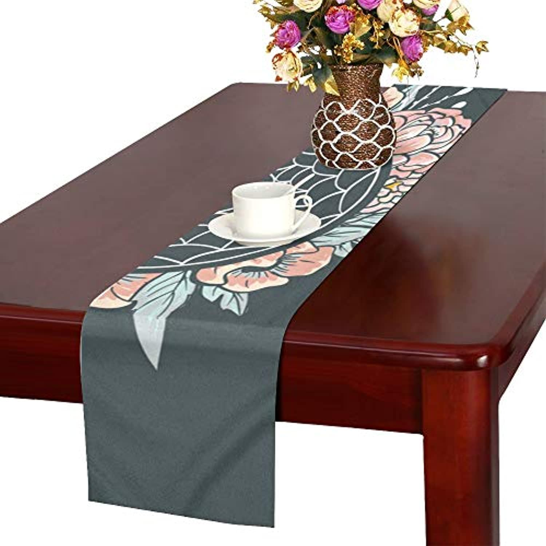 LKCDNG テーブルランナー きれいな ドリームキャッチャー クロス 食卓カバー 麻綿製 欧米 おしゃれ 16 Inch X 72 Inch (40cm X 182cm) キッチン ダイニング ホーム デコレーション モダン リビング 洗える