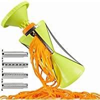 Newest 4 Blade Replaceable Vegetable Spiral Slicer Cutter Vegetable Spiralizer Grater Spiralizer for Carrot Cucumber Courgette Free shipping 野菜スパイラルスライサーカッター