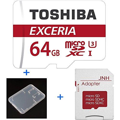 【3年保証】東芝 Toshiba 超高速U3 4K対応 microSDXC 64GB + SD アダプター + 保管用クリアケース [並行輸入品]