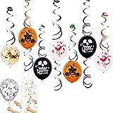 Firlar ハロウィン飾りバルーン 21個セット 装飾風船 文字 多彩  飾り付け DIY かぼちゃ 巫女 南瓜 パーティー グッズ 小物