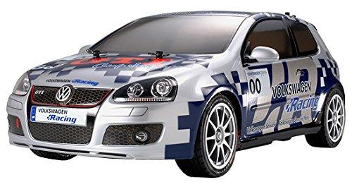 1/10電動RCカーシリーズ No.410 RCC V.W.ゴルフGTIカップカー TT-01-E ライト付き