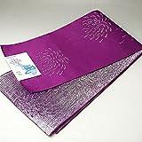 長尺浴衣帯 青紫 花火 ラメ 単衣帯 約4.3m 日本製 ロング帯 リバーシブル帯 ゆかた帯 半巾帯 袴帯 はかま帯 お稽古帯