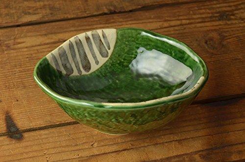 美濃焼 織部十草 15cm変形中鉢