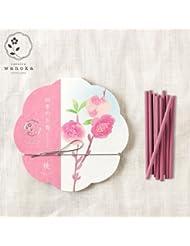 wanoka四季のお香(インセンス)桃《桃のお花をイメージした甘い香り》ART LABIncense stick