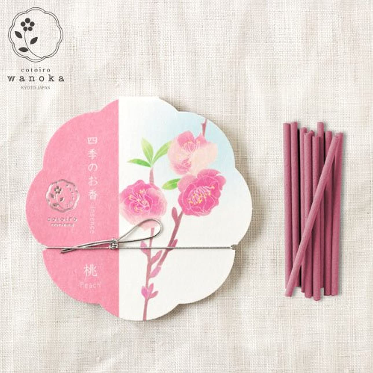 緩める流暢名誉wanoka四季のお香(インセンス)桃《桃のお花をイメージした甘い香り》ART LABIncense stick
