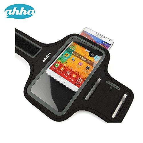 【ジョギングに最適】 日本正規品 ahha iPhoneSE / 5s / 5c 対応 4inch Universal Fitness Armband TYLER, Cosmic Black フィットネス アームバンド 【4インチサイズのスマホ対応】 A-AB00P133A-FT01
