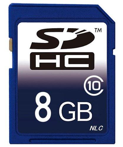 【東芝製チップ】採用オリジナルブランド SDメモリーカード SDHCメモリーカード 8GB Class10 クラス10【SDカード・SDHCカード・メモリーカード・フラッシュメモリー】HFM31/ HFM32/HFM41/ HFM43/ HFG10/HC-V700M/HC-V600M/HC-V300M/HC-V100M/VBK360-K