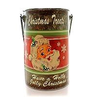 クリスマスレトロサンタワインTin Bucket Tin Treatsコンテナ 8.000 DA4496 TREATS