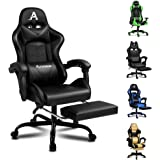 ALFORDSON Gaming Chair Racing Chair Executive Sport Ergonomic Office Chair with Footrest PU Leather Armrest Headrest Home Cha