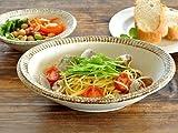 【M'home style】和食器 渕錆粉引楕円鉢22.5cm