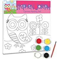 Stephen Jospeh Craft Canvas Set Owl [並行輸入品]