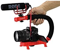 Cam Caddie 0CC-0100-RED Scorpion JR Video Camera Stabilizer Handle for Nikon/Canon/Sony (Red) [並行輸入品]