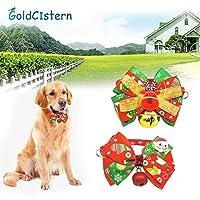 ベル猫蝶ネクタイペットと一緒にクリスマスシリーズペットちょう結び犬の首輪は2Style用品:サンタクロース、L