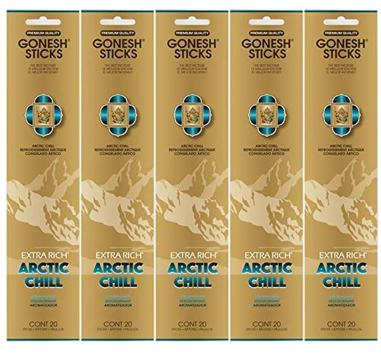 外出不機嫌製油所Gonesh お香スティック エクストラリッチコレクション - Arctic Chill 5パック (合計100本)