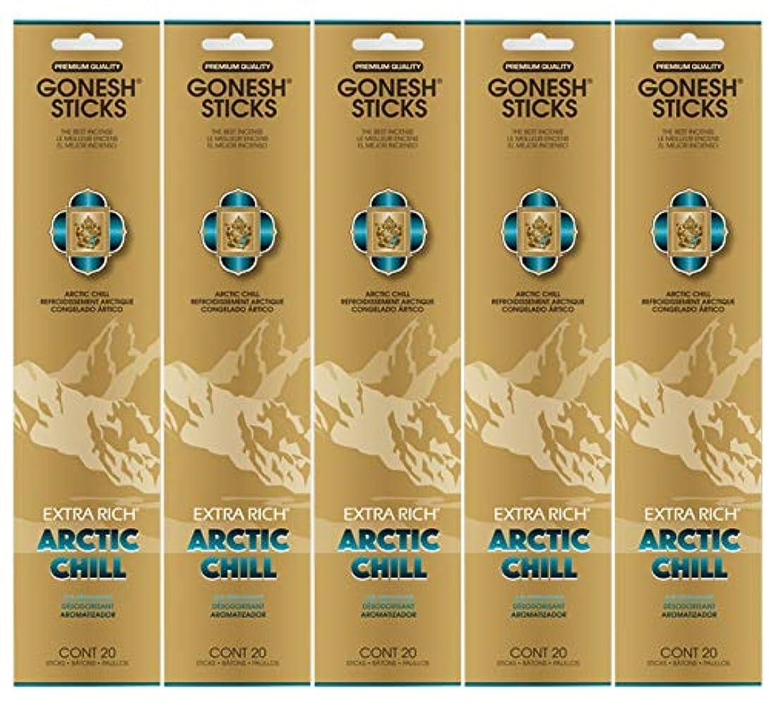 音節司教によるとGonesh お香スティック エクストラリッチコレクション - Arctic Chill 5パック (合計100本)
