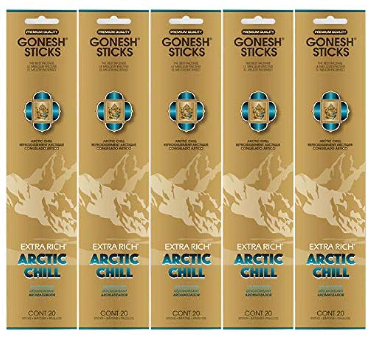 去るマリンユーモラスGonesh お香スティック エクストラリッチコレクション - Arctic Chill 5パック (合計100本)