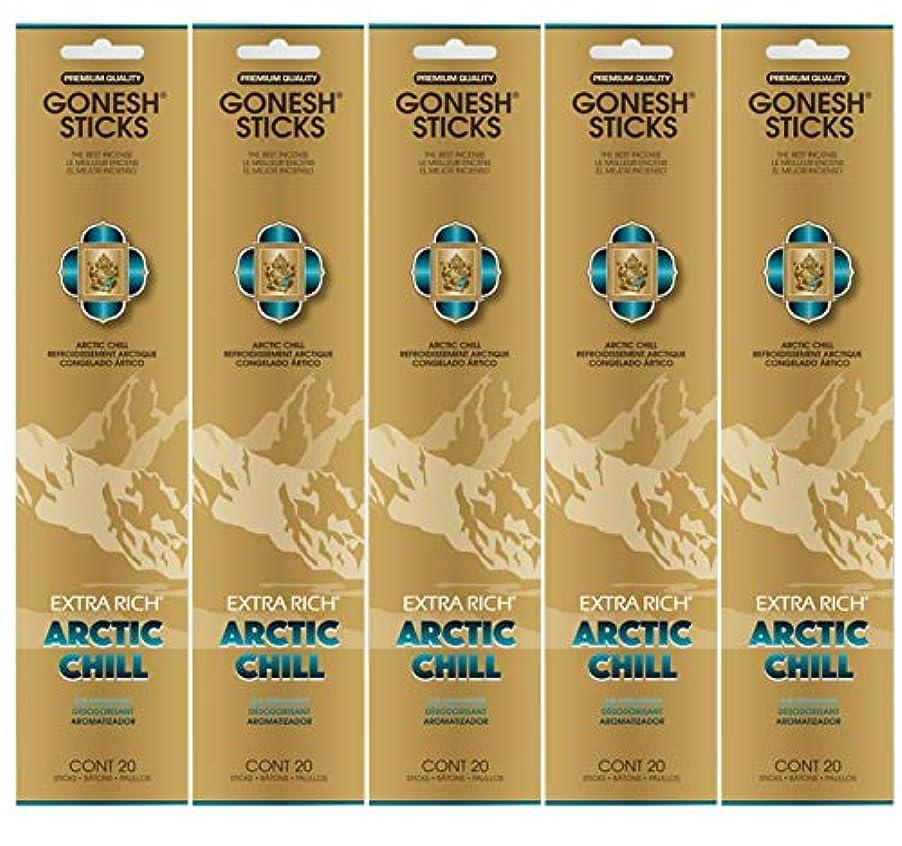 バーマド放棄する切り下げGonesh お香スティック エクストラリッチコレクション - Arctic Chill 5パック (合計100本)