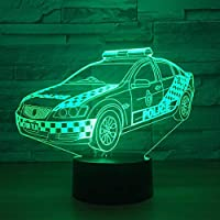 Dtcrzj Hi 3D警察ビジュアルLedホームRグラデーションモデリングデスクランプ用キッドタッチボタン車のナイトライト赤ちゃん睡眠Usb照明Ts