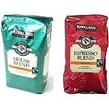Kirkland スターバックス ローストハウスブレンド コーヒー 豆(907g)とエスプレッソコーヒー豆(907g)の2パックセット