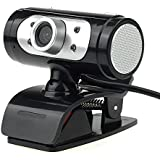 iSee ウェブカメラ、1080P画質webカメラ 四つLEDライトとデジタルビデオ暗視機能付きウェブカムは内蔵のマイクUSB webcam声音