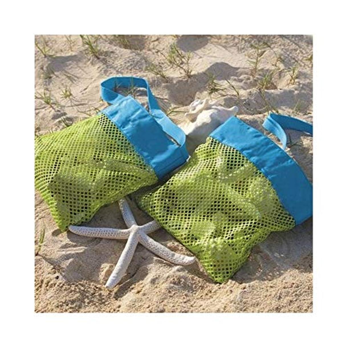 無し適応許可する屋外子供のビーチおもちゃ速い収納袋砂浚渫工具雑貨収納ネット (Color : Blue, Size : 25*25cm/9.8*9.8in)