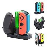 ジョイコン Joy-Con Pro コントローラー 充電 スタンド Nintendo Switch 3WAY充電可能 ニンテンドー スイッチ プローコントローラー 充電ホルダー チャージャー 充電指示LED付き