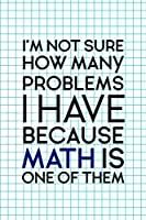 I'm Not Sure How Many Problems I Have Because Math Is One Of Them: Accountant Notebook Journal Composition Blank Lined Diary Notepad 120 Pages Paperback Squares