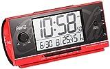 セイコー クロック 目覚まし時計 コカ・コーラ Coca-Cola 電波 デジタル 大音量  赤 AC602R SEIKO AC602R
