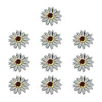 Prettyia 10個 コサージュ 飾り付け フラワー 造花 DIY チェアバック装飾 結婚式 パーティー 会場 全4色 - グレーグリーン