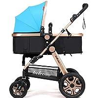 乳母車 赤ちゃんのベビーカーはリクライニング折りたたみ式のライトポータブル高地ショック 使いやすい (色 : 1#)