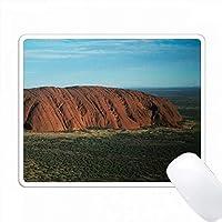 オーストラリア、ノーザンテリトリー、砂漠のウルル、エアリアルアイルズロック PC Mouse Pad パソコン マウスパッド