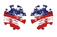 Geyi American Flag Wrestling Headgear Decals