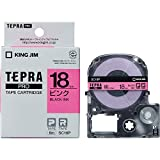 キングジム テープカートリッジ テプラPRO 18mm SC18P ピンク