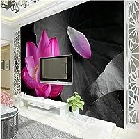Lcymt リビングルームの壁紙の家の装飾のための大きい注文の壁紙の壁画の現代簡単なはすTvの壁の壁紙-150X120Cm