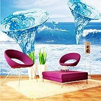 Xbwy 写真壁紙美しい青い竜巻海水柱バルコニーリビングルーム装飾背景壁紙壁画-250X175Cm