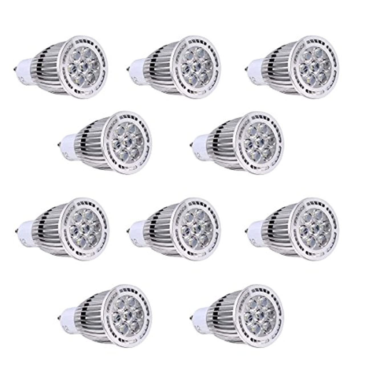人口ドアミラー征服BMY ホームLED電球、GU10 7W SMD 3030 600-700 LMウォームホワイト/クールホワイトクリアLEDスポットライトAC 85-265V AC 220-240V AC 110-130V(10個)電球(色:110-130V、サイズ:ウォームホワイト)