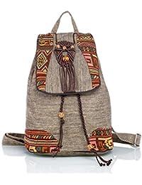 CKH ナショナルスタイルのアートバックパックショルダーバッグキャンバスソフトバックパック手織りの観光中国スタイルの実用的なパッケージ
