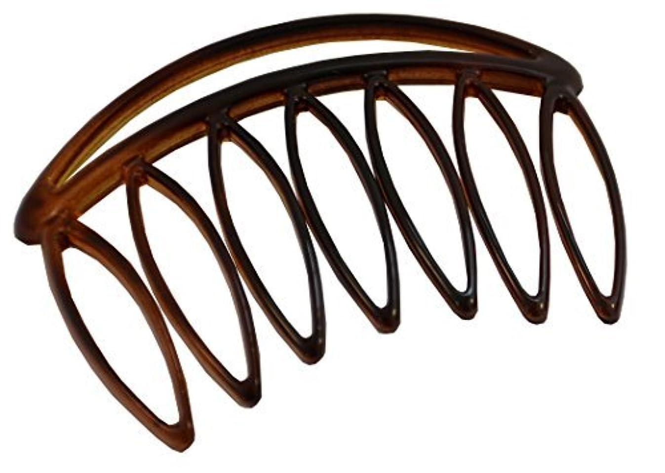 羨望面倒噴火Parcelona French Swift Large 7 Teeth Celluloid Shell Side Hair Combs (2 Pcs) [並行輸入品]