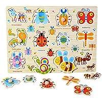 Yinpinxinmao パズル 3歳用 木製パズル おもちゃ アニメ 車 文字 動物 教育 赤ちゃん 早期教育 # 06 WRE6DRMKA42DEI5AK7Q