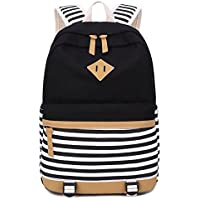 BLUBOON School Backpack Canvas Casual School Bookbag for Teens Girls