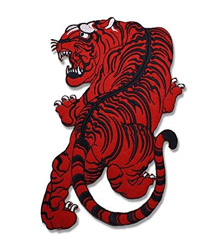 [해외]유 패킷 발송 문장 호랑이 빨강 | 노랑 | 화이트 타이거 호랑이 배지 엠블럼 패치 아플리케 큰 사이즈 다리미 접착/Yu Packet Dispatch Patch Tiger Red | Yellow | White Tiger Tiger Badge Emblem Patch Applique Large Size Iron Glue