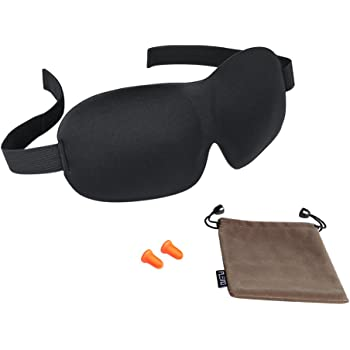 PLEMO アイマスク 立体型 睡眠 軽量・究極の柔らか シルク質感 睡眠、旅行に最適 (耳栓と収納袋セット)