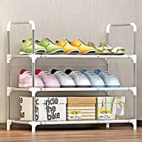 シェルフ_3層の実用的な靴のラック、持ち運びに便利な(30 * 60 * 58センチメートル)、簡単に防錆スチール収納ラック、