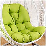 Swing Hammock Egg Chair Cushion Without Stand, Cotton Pads Removable Seat Cushions with Pillow, Overstuffed Hanging Baskets Rattan Chair Cushions 125x95 cm (49x37inch),Green
