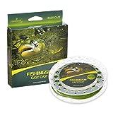 FishingSir 重量フォワードフローティング フライフィッシングの 釣り糸 ,高度技術を用い-100FT (WF3F 4F 5F 6F 7F 8F)