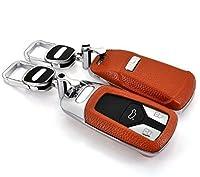 Audi アウディ A4/Q7/TT/TTS 紛失の心配なし!電話番号の書けるキーケース キーホルダー付 オレンジ