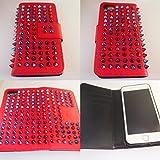 iPhone7 ケース スタッズ カバー レッド 携帯ケース [並行輸入品]