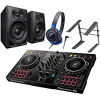 Pioneer DDJ-400 + DM-40-B(スピーカー) + ATH-S100BBL(ヘッドホン) + PCスタンド DJ初心者セット DJセット パイオニア