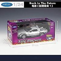 CBPPWelly 1:24 ダイキャスト合金モデル車 DMC-12 delorean バックに将来の時間機金属おもちゃの車子供のおもちゃのためギフトコレクションおもちゃの車のる